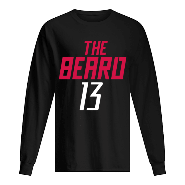 13 James Harden The Beard  Long Sleeved T-shirt