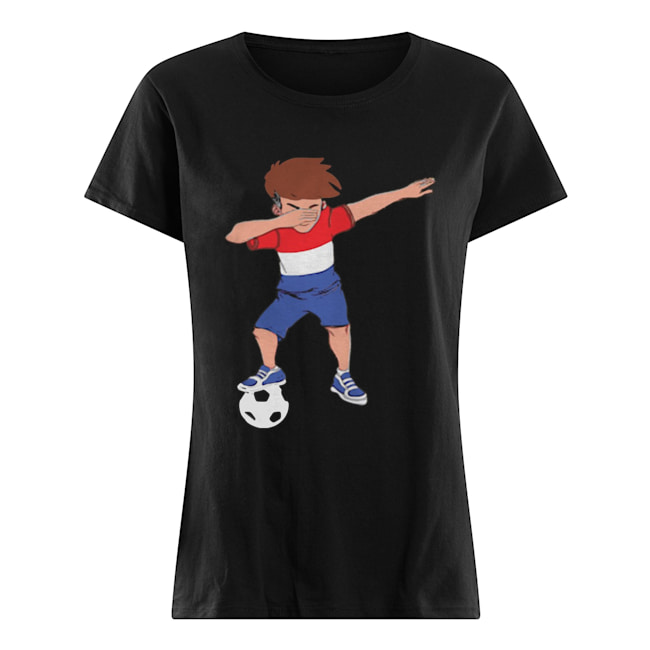 Amsterdam Dabbing Soccer Dutch Flag Football Hup Holland  Classic Women's T-shirt