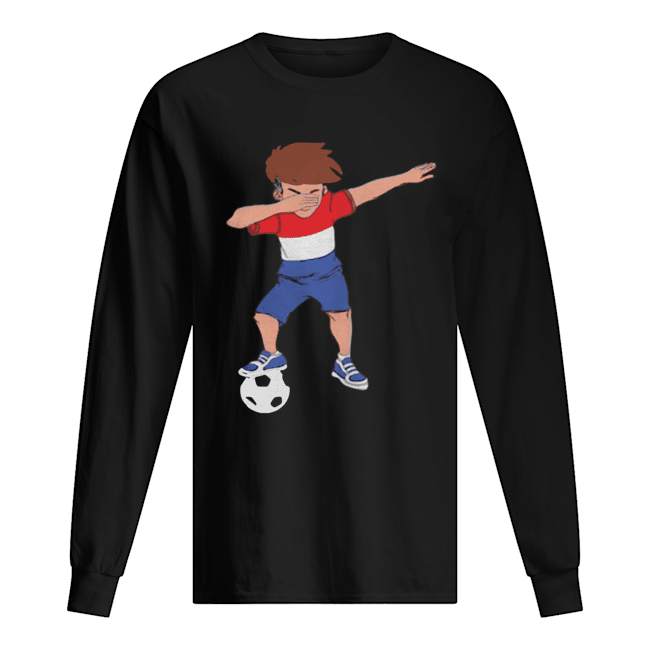 Amsterdam Dabbing Soccer Dutch Flag Football Hup Holland  Long Sleeved T-shirt