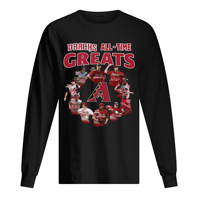 Arizona Diamondbacks all time great players signatures  Long Sleeved T-shirt