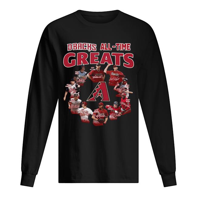 Arizona Diamondbacks all time great players signatures  Long Sleeved T-shirt