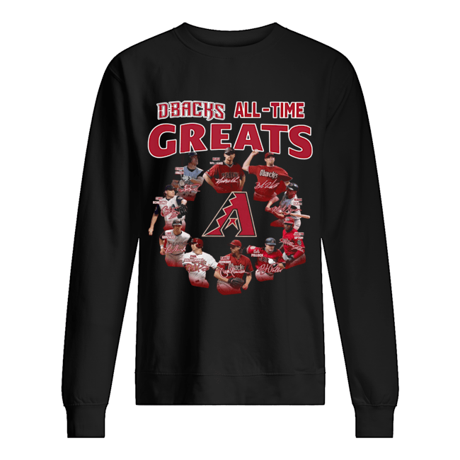Arizona Diamondbacks all time great players signatures  Unisex Sweatshirt