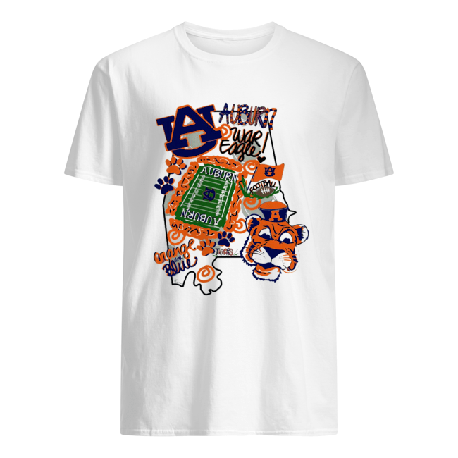 Auburn Tigers War Eagle Orange and blue  Classic Men's T-shirt