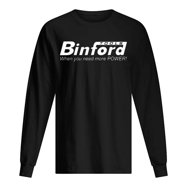 Binford Tools Home Improvement  Long Sleeved T-shirt