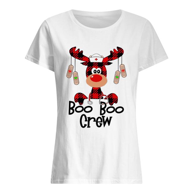 Boo Boo Crew reindeer Christmas  Classic Women's T-shirt