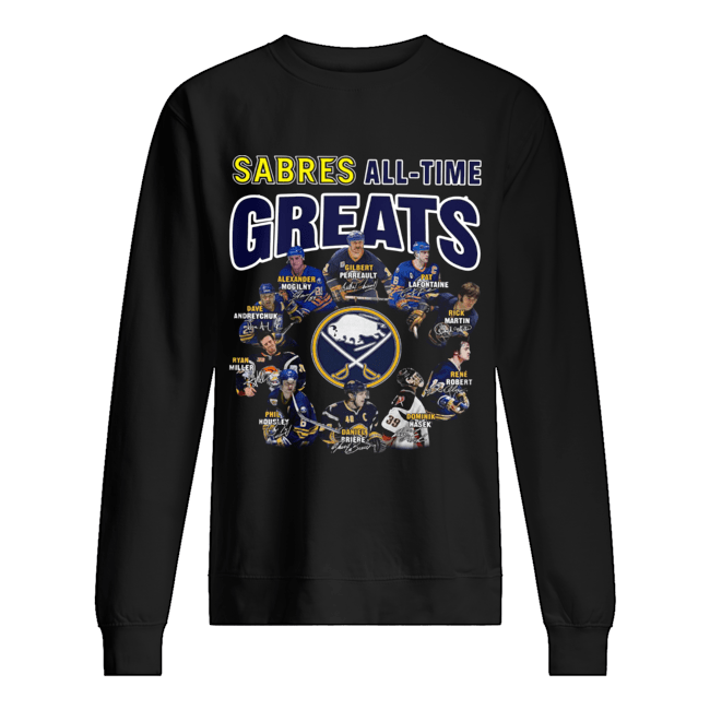 Buffalo Sabres all time great players signatures  Unisex Sweatshirt