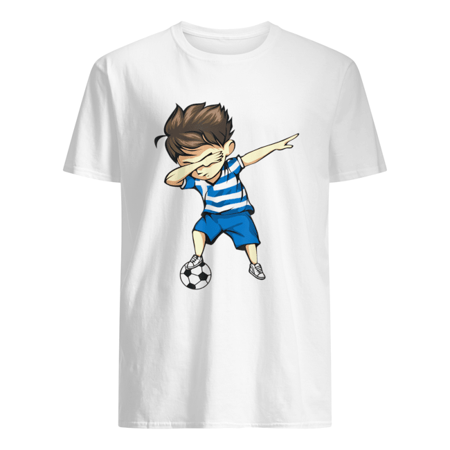 Dabbing Soccer Boy Greece Jersey  Classic Men's T-shirt