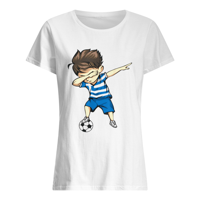 Dabbing Soccer Boy Greece Jersey  Classic Women's T-shirt