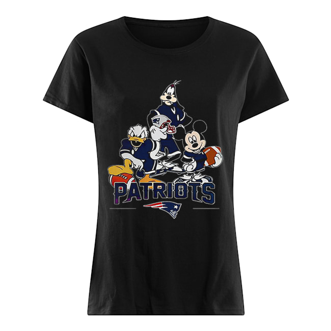 Disney Character New England Patriots  Classic Women's T-shirt
