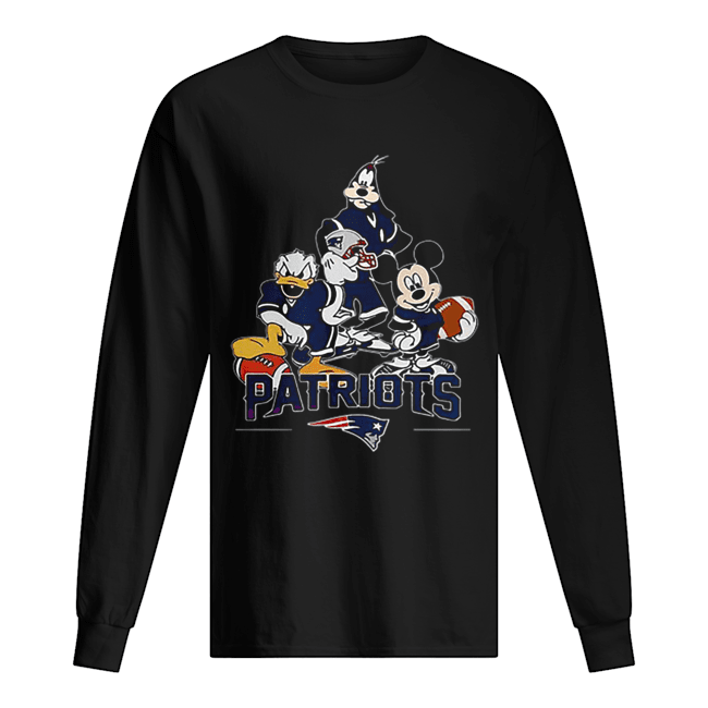 Disney Character New England Patriots  Long Sleeved T-shirt