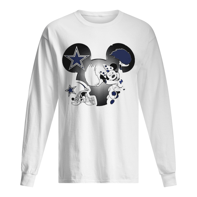 Disney Minnie Mouse Dallas Cowboys  Long Sleeved T-shirt