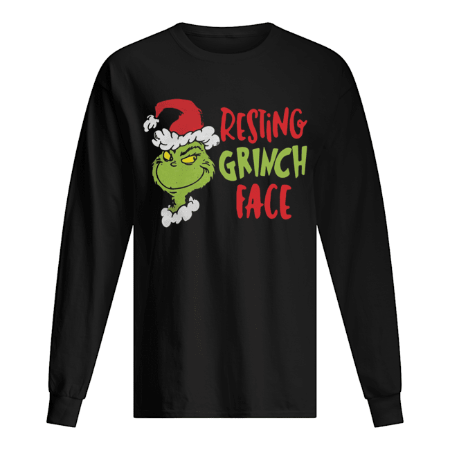 Dr Seuss Primark Resting Grinch Face  Long Sleeved T-shirt