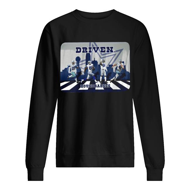 Driven Dallas Cowboys Walking Road House Barnes  Unisex Sweatshirt