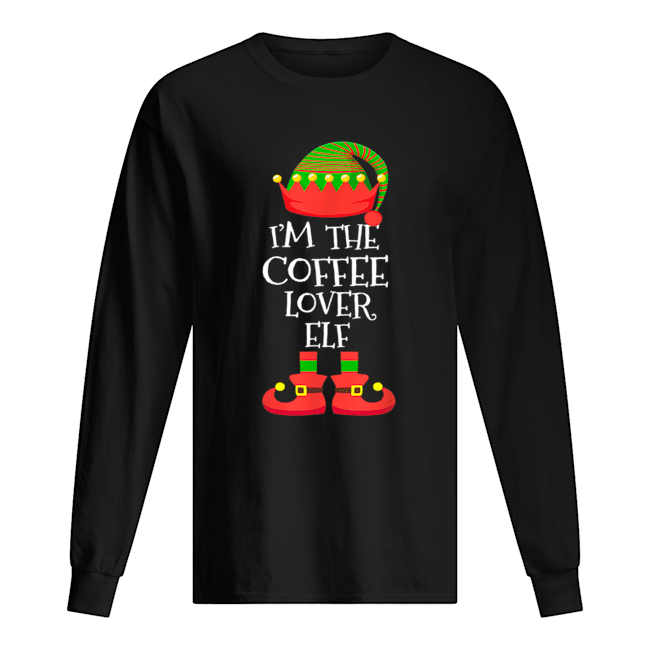 'M THE Coffee Lover ELF Christmas Xmas Elf Group Costume  Long Sleeved T-shirt