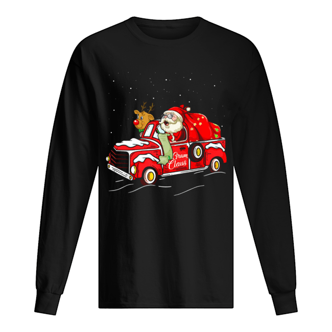 Funny Gram Claus Truck Grandma Christmas  Long Sleeved T-shirt