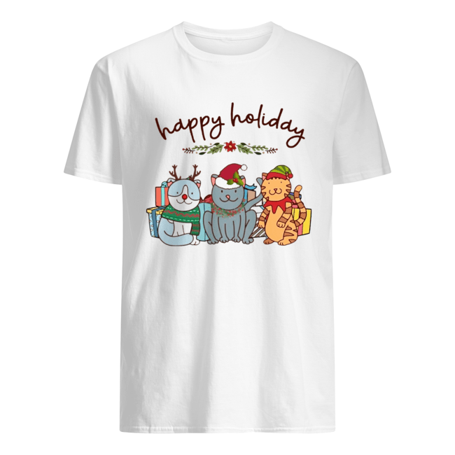 Happy Holliday Cats Christmas  Classic Men's T-shirt