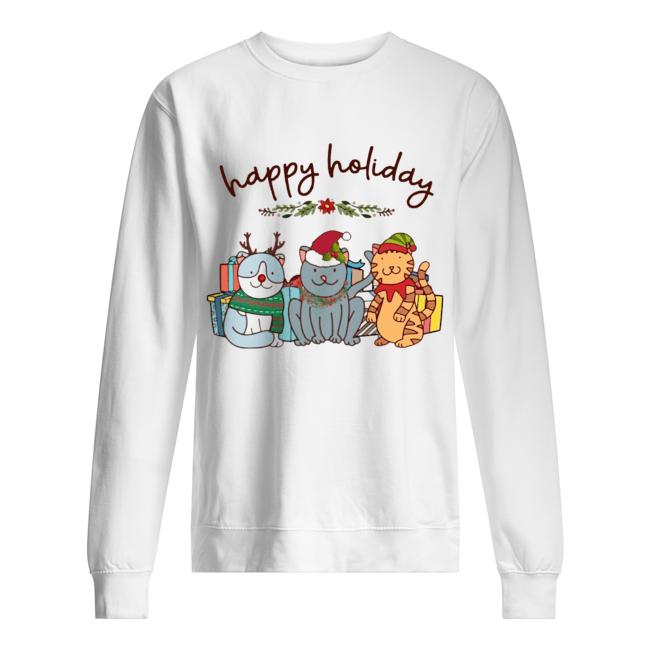 Happy Holliday Cats Christmas  Unisex Sweatshirt