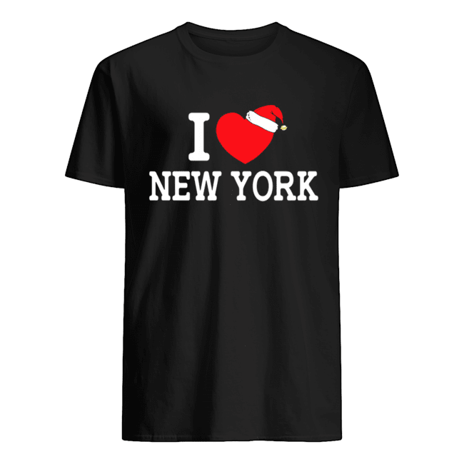 I Heart New York Christmas Santa Hat New York Strong Love  Classic Men's T-shirt