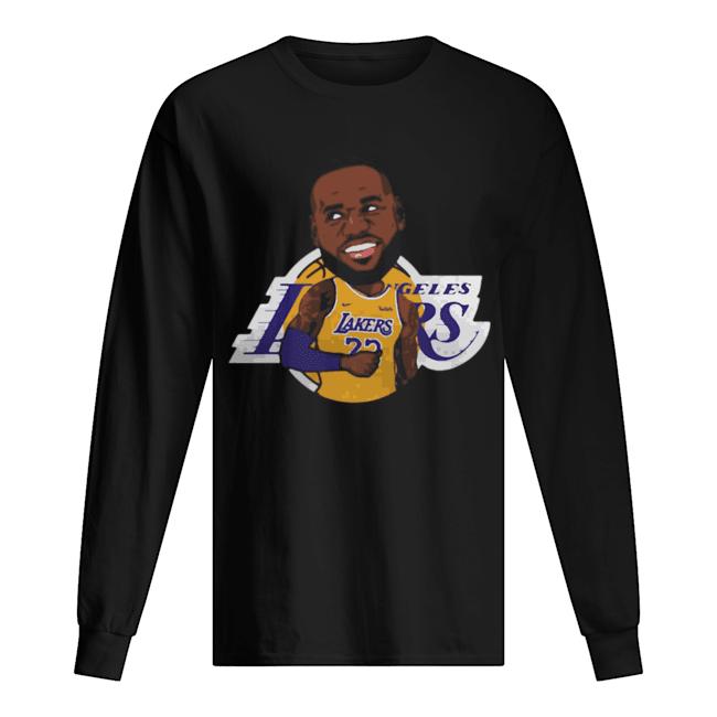 LeBron James Chibi Los Angeles Lakers  Long Sleeved T-shirt