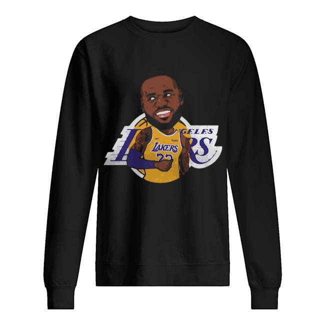 LeBron James Chibi Los Angeles Lakers  Unisex Sweatshirt