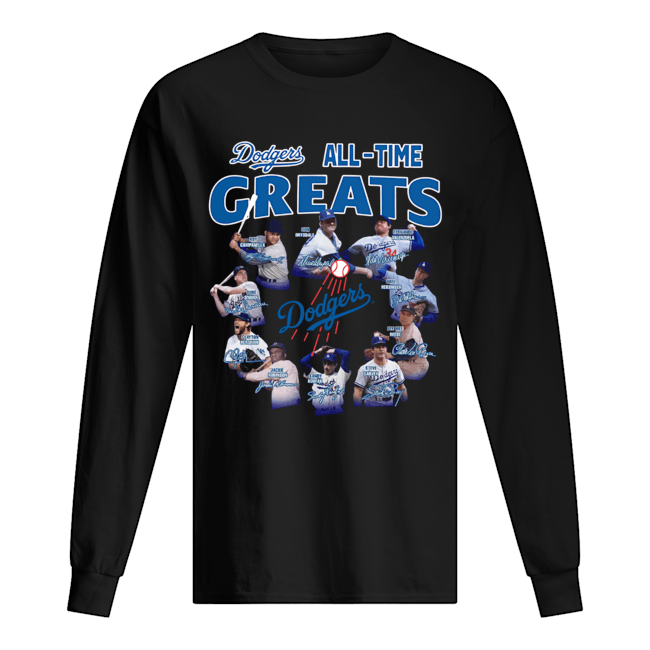 Los Angeles Dodgers all time great players signatures  Long Sleeved T-shirt