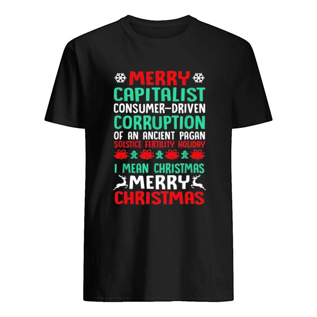 MERRY CAPITALIST PAGAN HOLIDAY Christmas shirt, hoodie