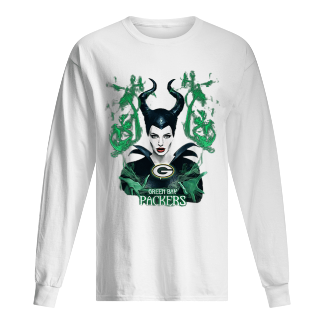 Maleficent Green Bay Packers  Long Sleeved T-shirt