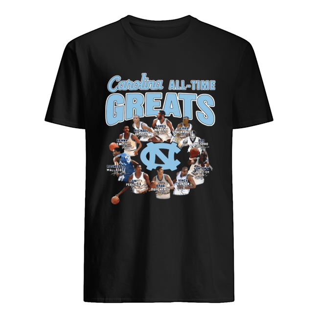 North Carolina Tar Heels baseball All-time Greats Players Signatures  Classic Men's T-shirt