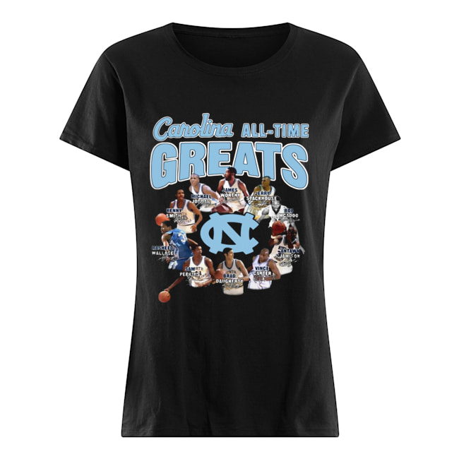 North Carolina Tar Heels baseball All-time Greats Players Signatures  Classic Women's T-shirt