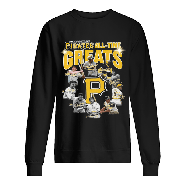 Pittsburgh Pirates all time great players signatures  Unisex Sweatshirt