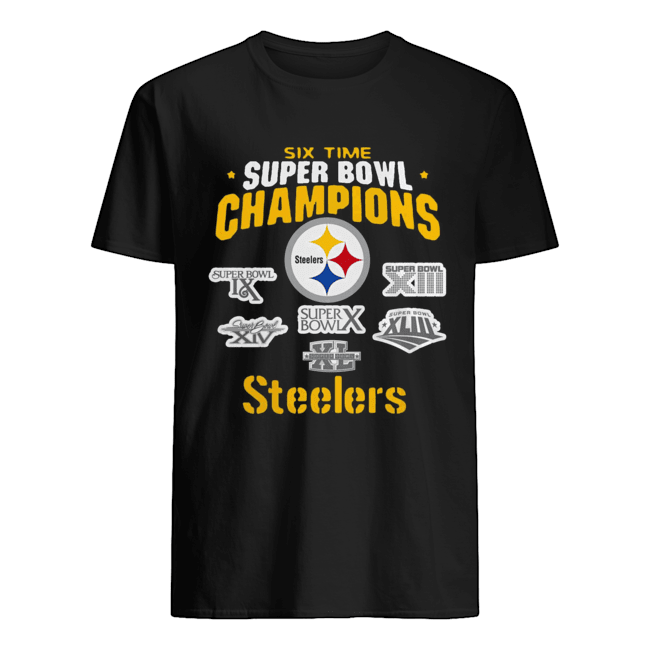 Pittsburgh Steelers NFL Six Time Super Bowl Champions  Classic Men's T-shirt