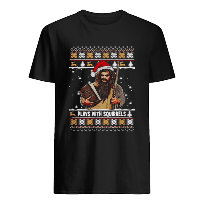 Plays with squirrels the secret life Christmas  Classic Men's T-shirt