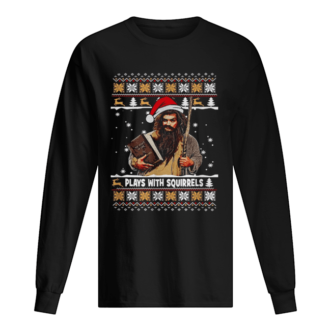 Plays with squirrels the secret life Christmas  Long Sleeved T-shirt