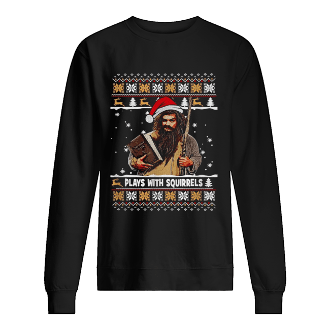 Plays with squirrels the secret life Christmas  Unisex Sweatshirt