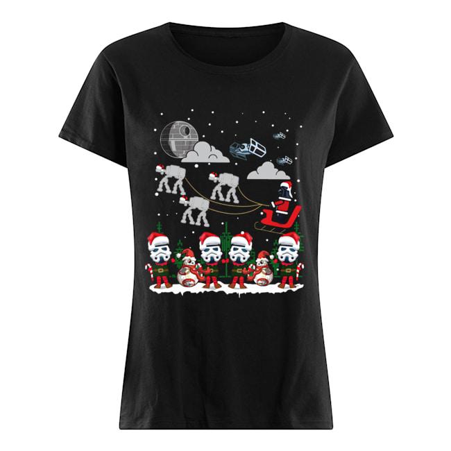 Santa Darth Vader Star Wars Stormtrooper Ugly Christmas  Classic Women's T-shirt