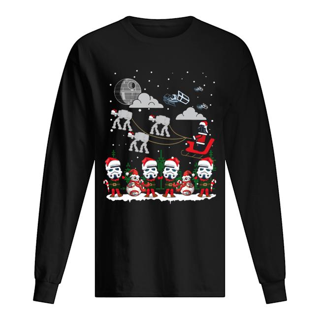 Santa Darth Vader Star Wars Stormtrooper Ugly Christmas  Long Sleeved T-shirt