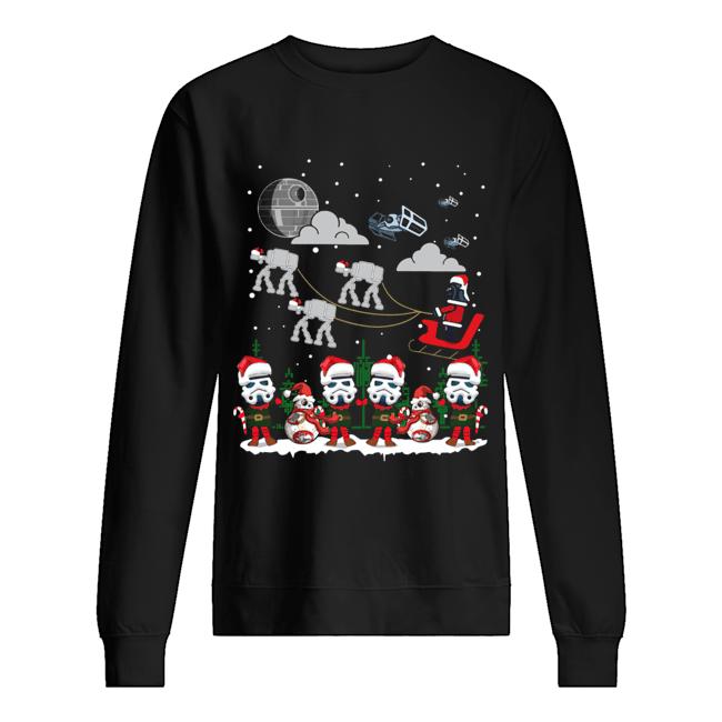 Santa Darth Vader Star Wars Stormtrooper Ugly Christmas  Unisex Sweatshirt