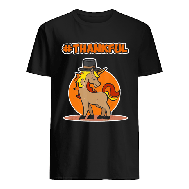 #Thankful Unicorn Thanksgiving  Classic Men's T-shirt