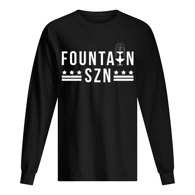 Washington Nationals Champion Fountain Szn  Long Sleeved T-shirt