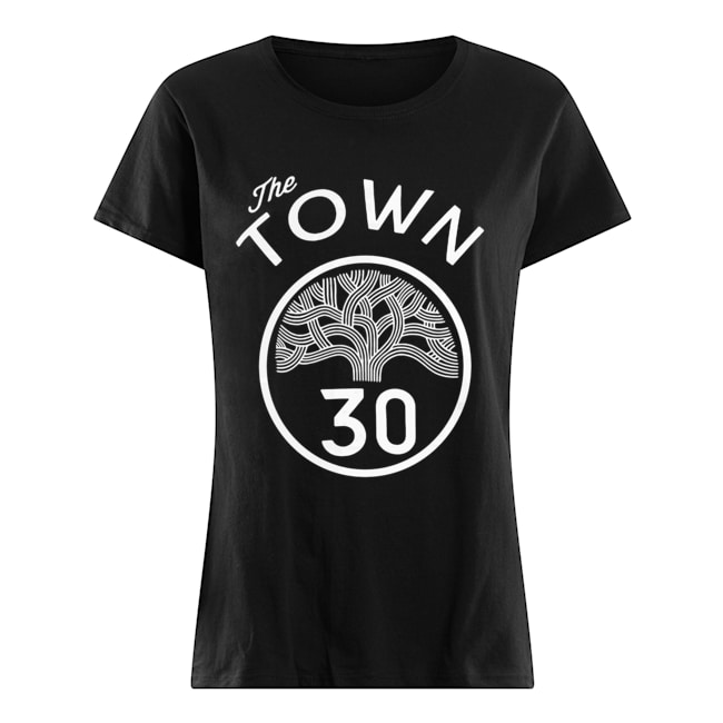 #30 Stephen Curry The Town Blue Golden State Warriors  Classic Women's T-shirt