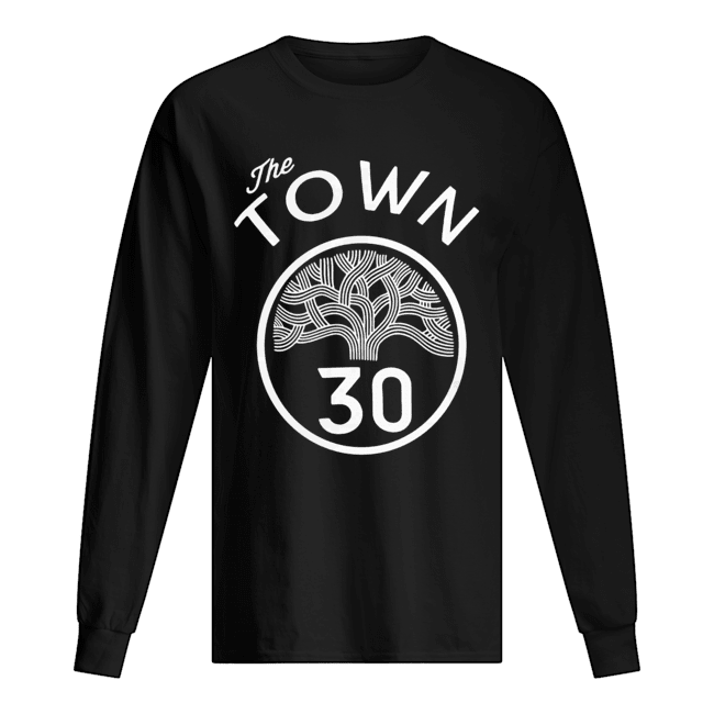 #30 Stephen Curry The Town Blue Golden State Warriors  Long Sleeved T-shirt