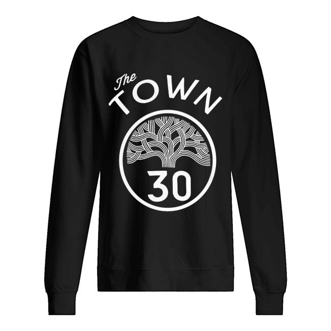 #30 Stephen Curry The Town Blue Golden State Warriors  Unisex Sweatshirt