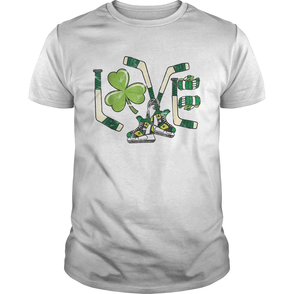 Ice Hockey Love St Patricks Day Cute Gift Goalie Clover Boys  Unisex