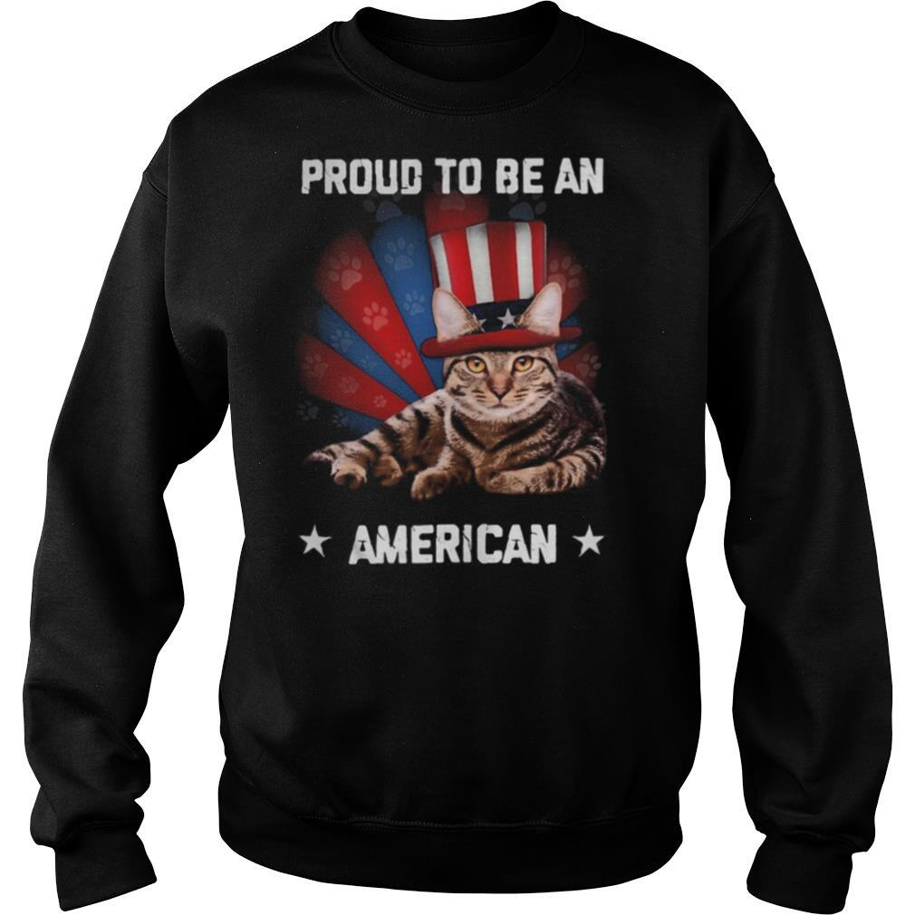 Proud to be a Cat American flag veteran Independence day shirt