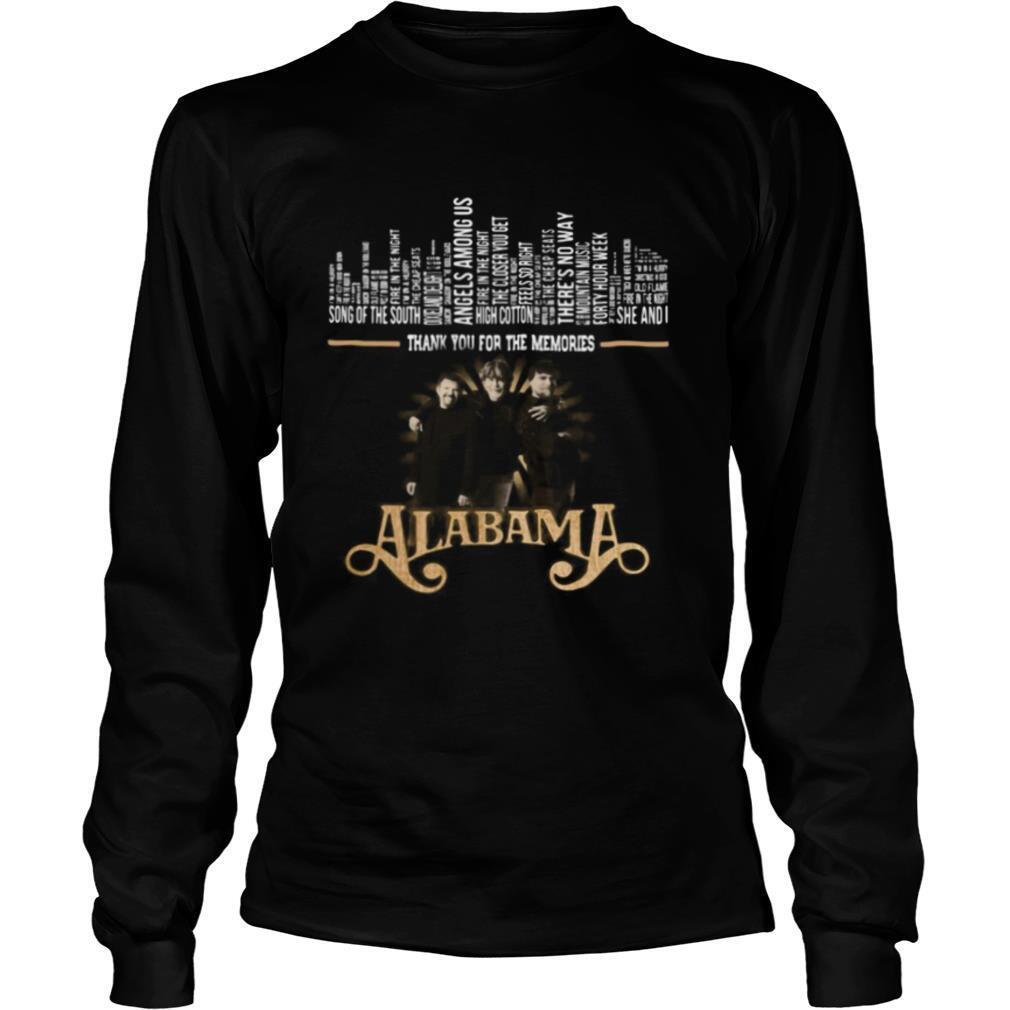 Thank you for the memories alabama band shirt