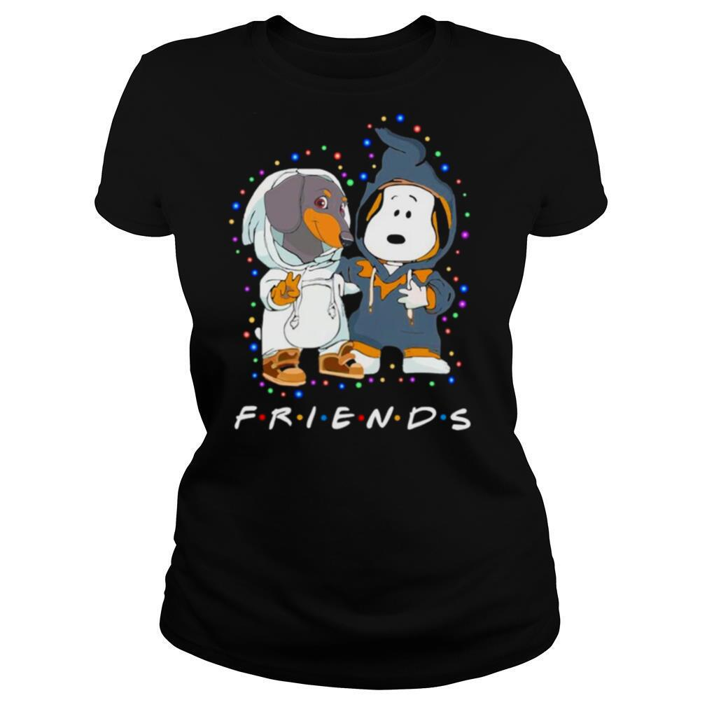 Dachshund and Snoopy Friends Christmas light shirt
