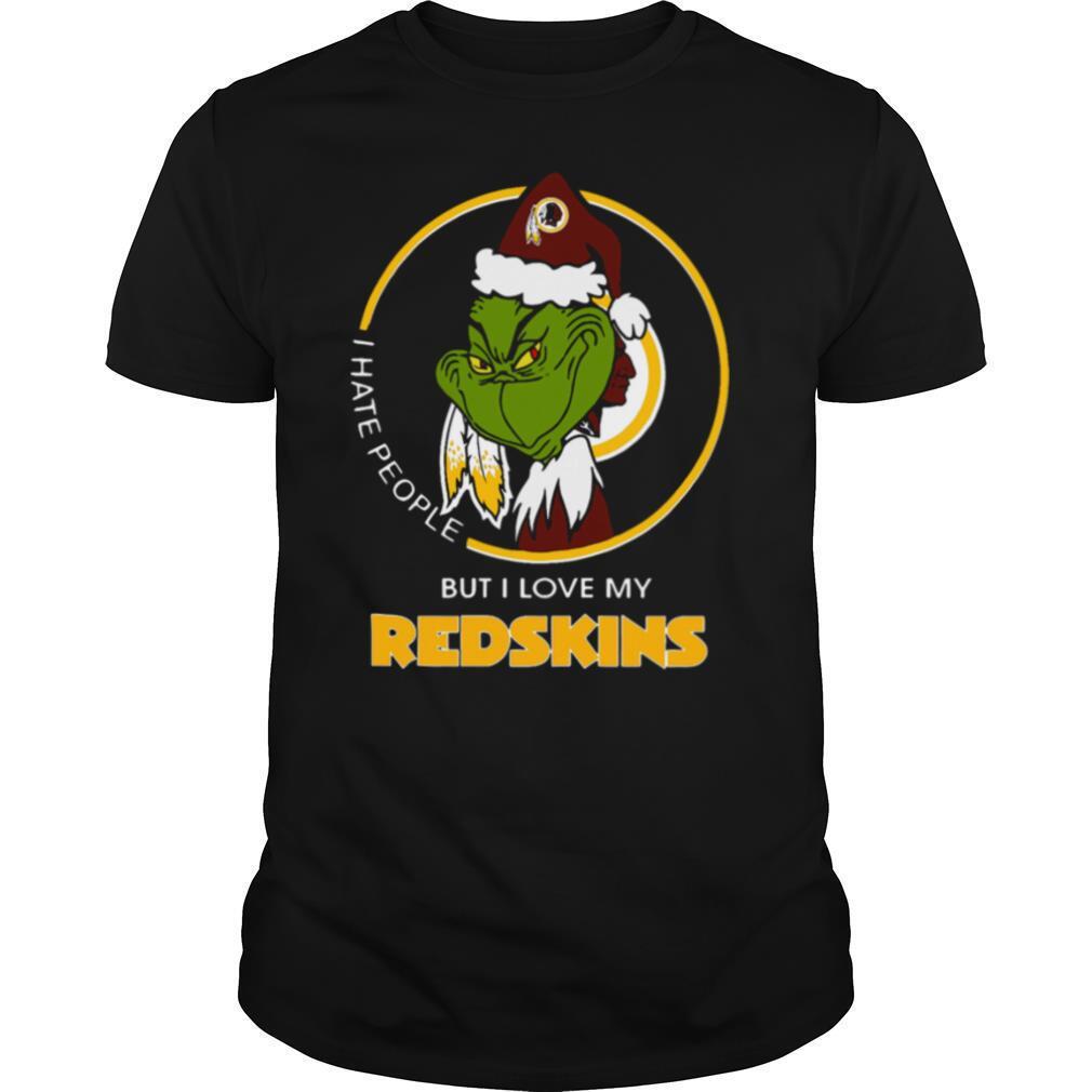 I Hate People But I Love My Washington Redskins Grinch shirt