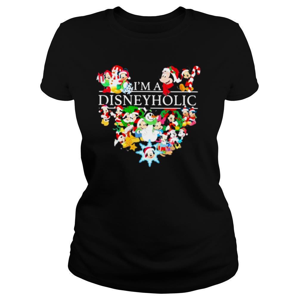 I'm a disney holic heart mickey mouse shirt