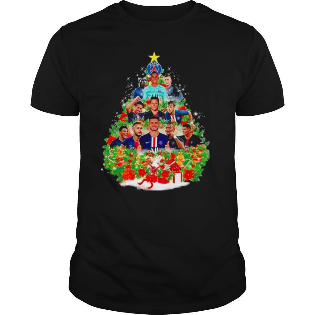 Paris saint germain football club christmas tree shirt