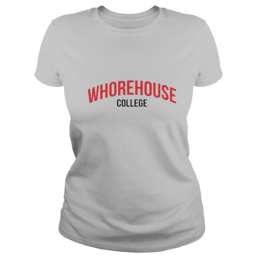 Whorehouse college shirt